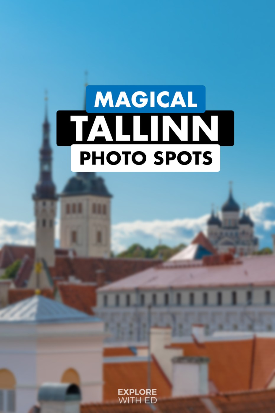 TikTok tips for travel bloggers, format example of Tallinn