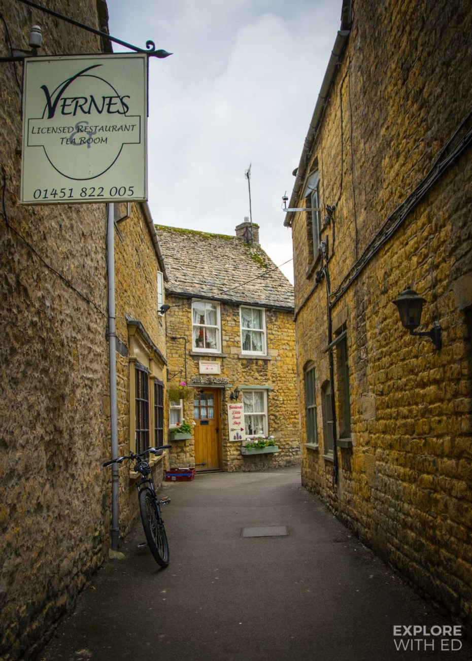 Charming side street in Bourton-on-the-Water