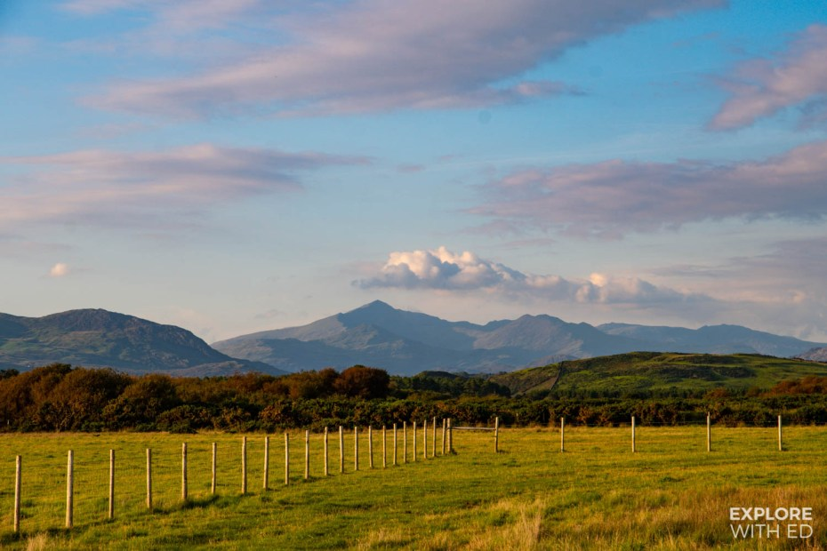 View of Snowdon from Harlech, Wales