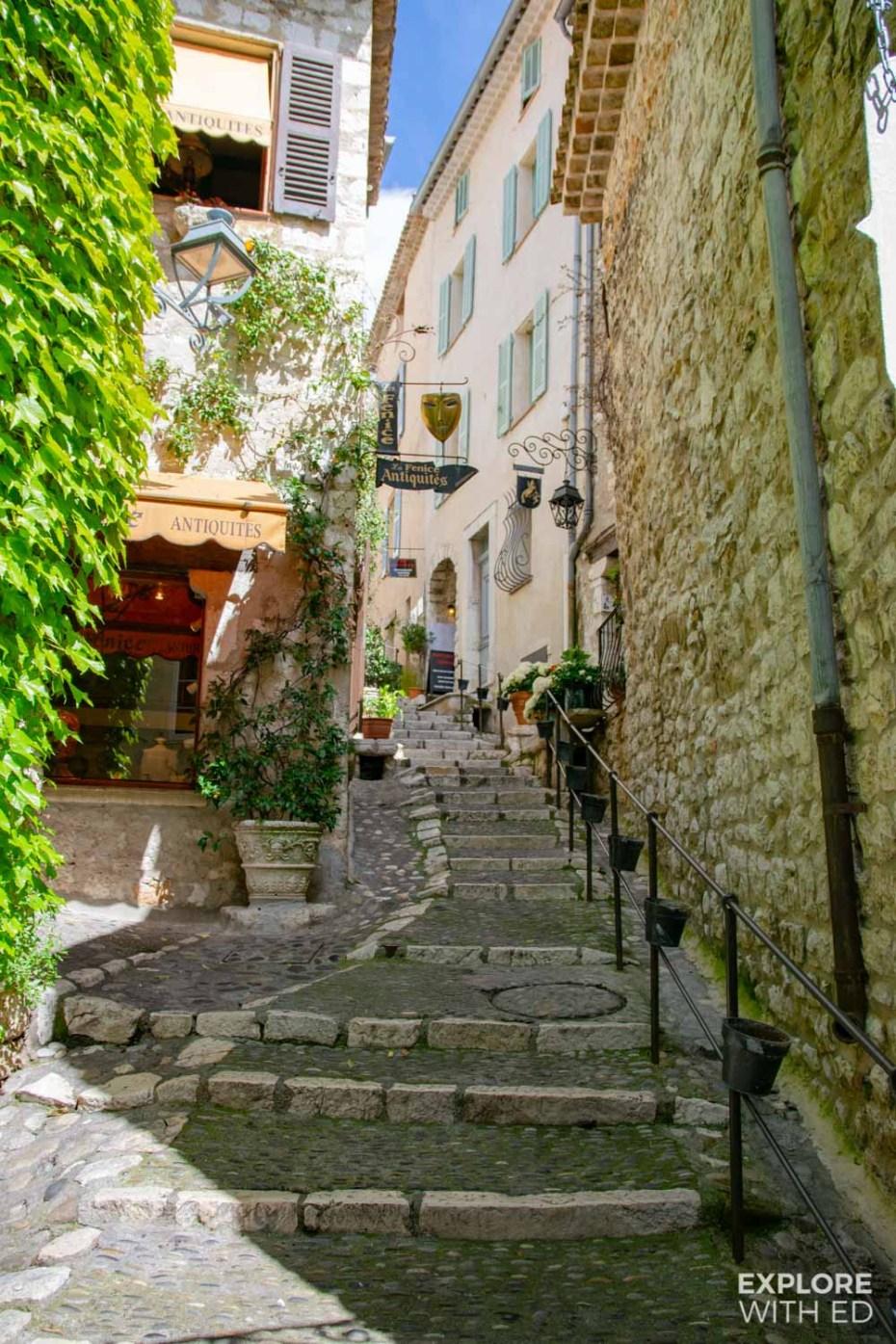Pretty street in Saint Paul de Vence, France