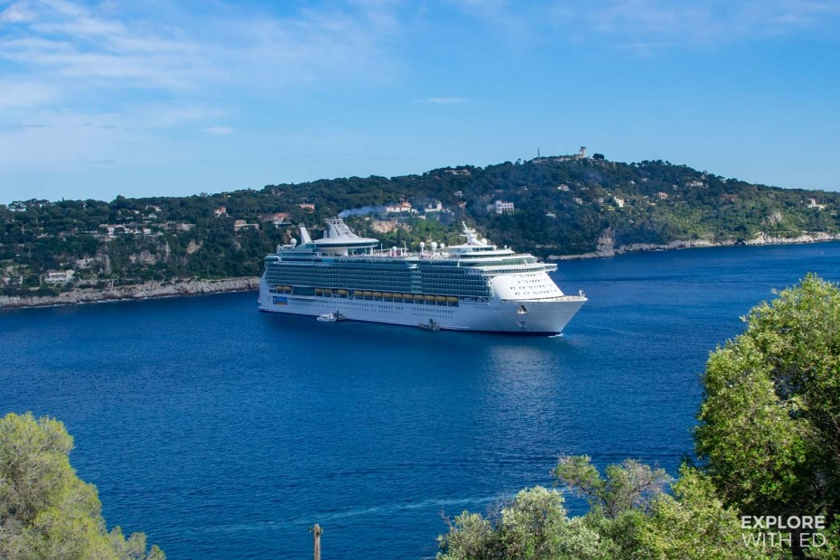 Cruise ship docked in Villefranche-sur-Mer
