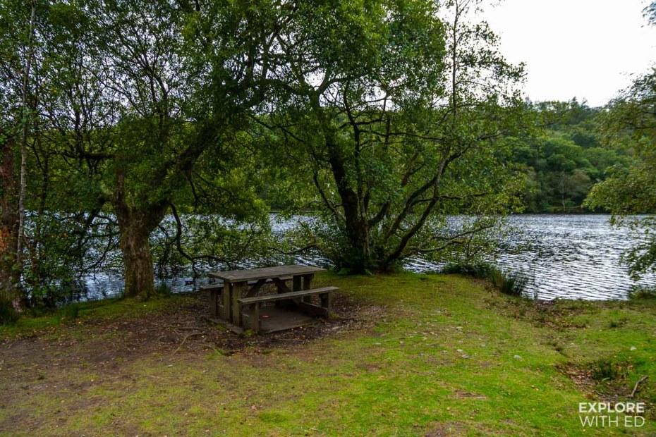 Llyn Mair picnic spot stop off on the Ffestiniog Railway trip