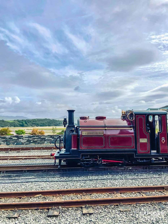 Steam train locomotive in North Wales