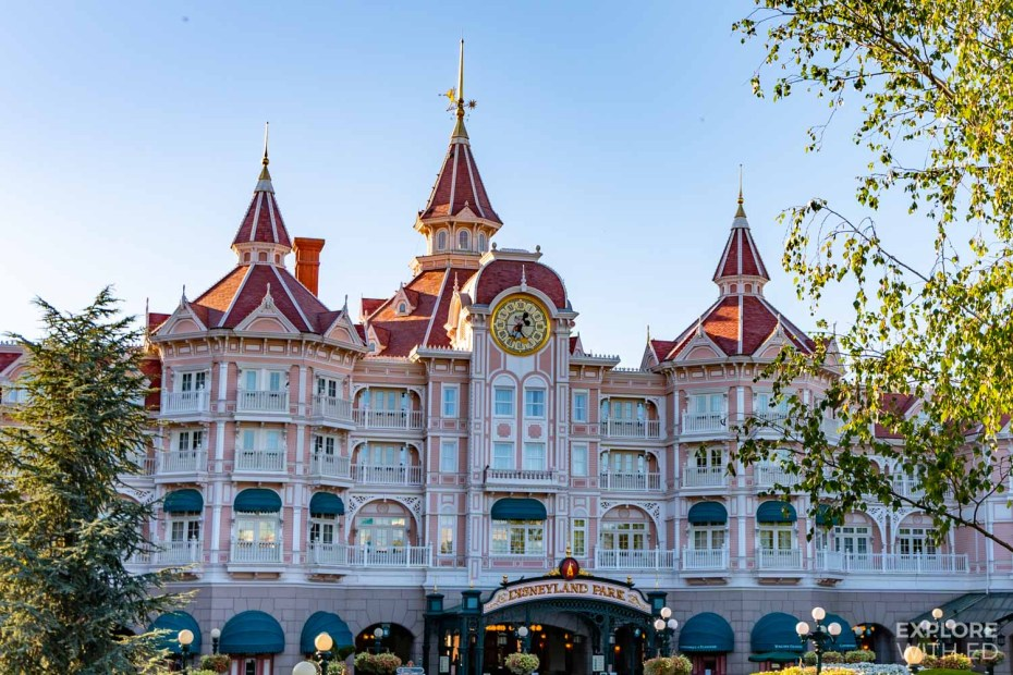 Disneyland Paris Hotel overlooking Main Street USA