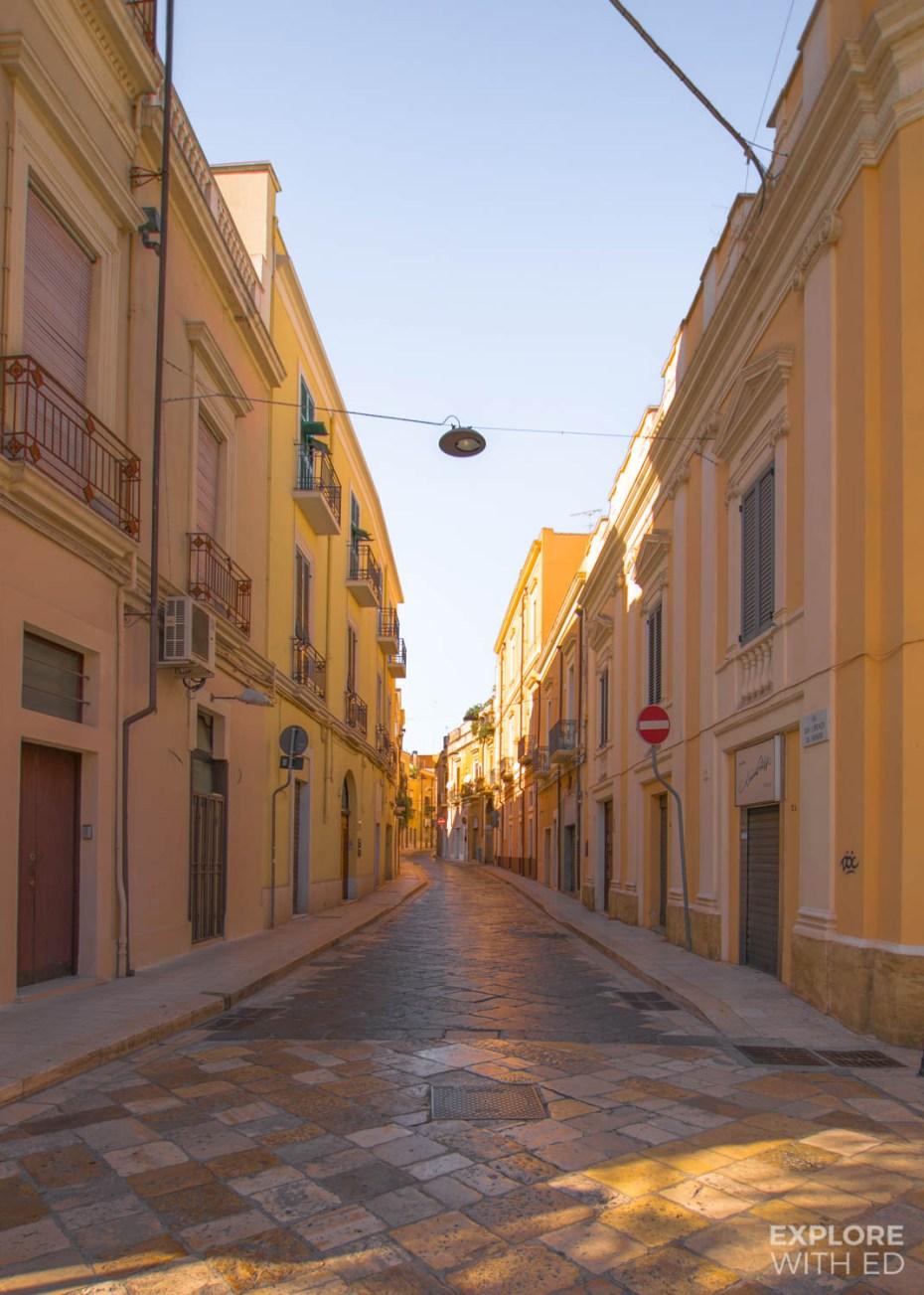 Empty street in Brindisi