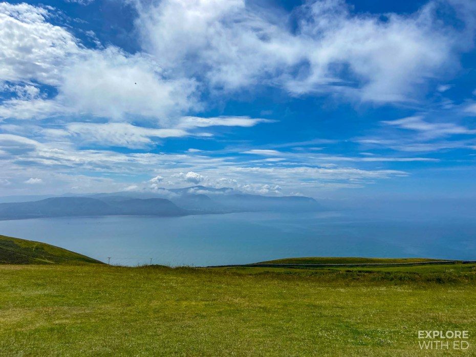 View over the North Wales coast from the Great Orme