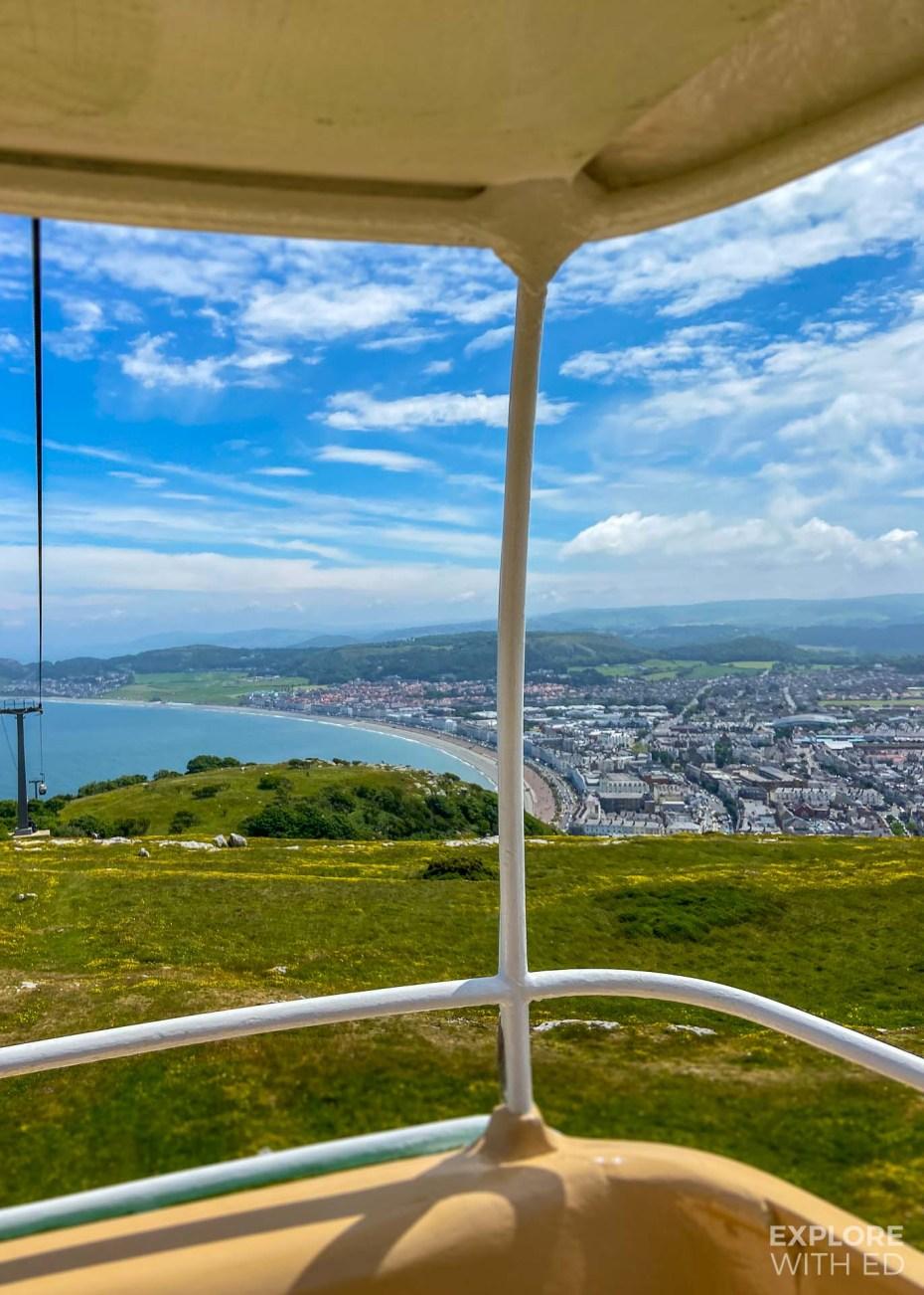 Llandudno Cable Car view over the bay