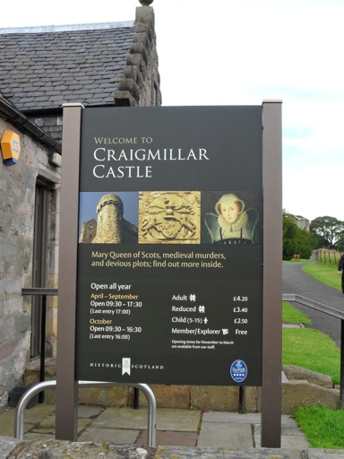 Craigmillar Castle Sign