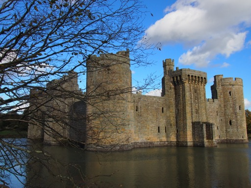 View of Bodiam Castle across the moat