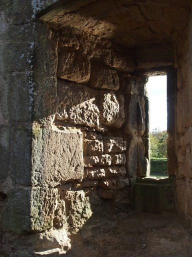 Window within Bodiam castle