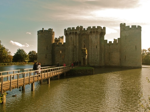 Sunset over Bodiam in Sussex