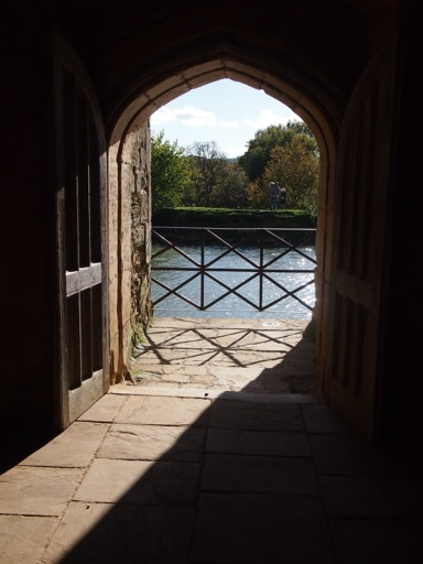 View out from the Postern Gate
