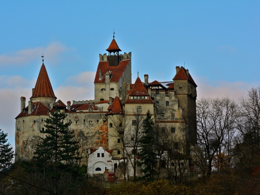 The spooky exterior of Bran Castle.
