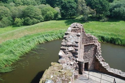 Caerlaverock Castle ruined tower