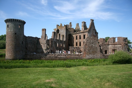 Caerlaverock Castle ruined back wall