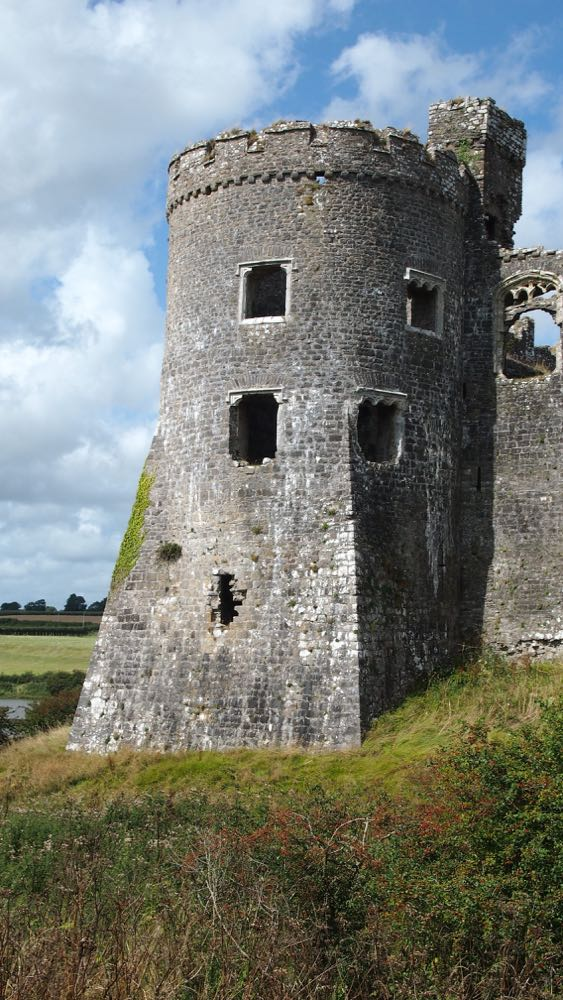 Carew Castle Fins upon Turrets