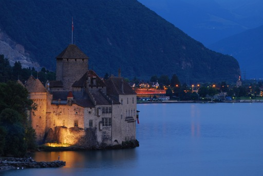 Chillon Castle at Night