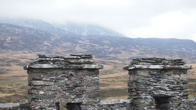 View of Snowdonia from the castle