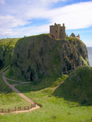 Stylised view of Dunnottar Castle