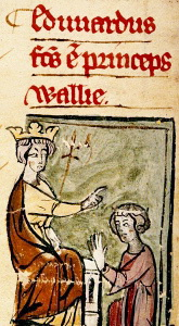 Edward I and son