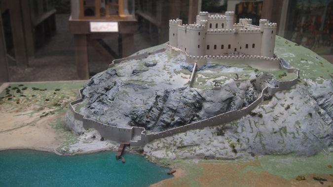 Model of Harlech Castle