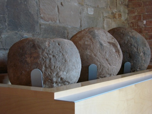 Rocks used by trebuchet in the siege of Kenilworth Castle