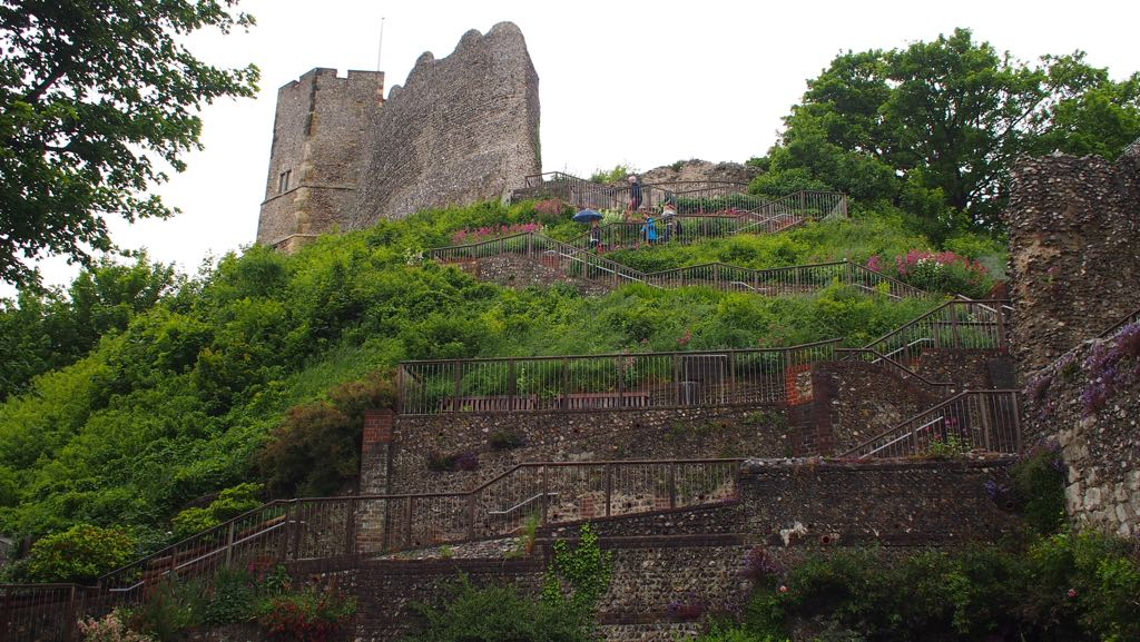 Pathway to the keep of Lewes Castle