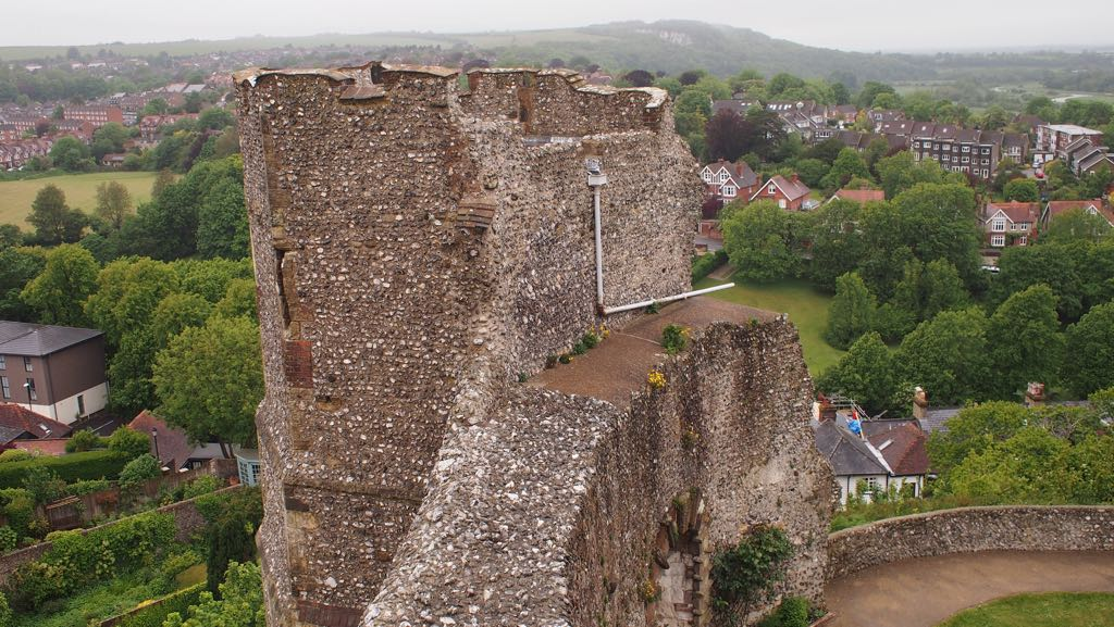 View from Lewes Castle