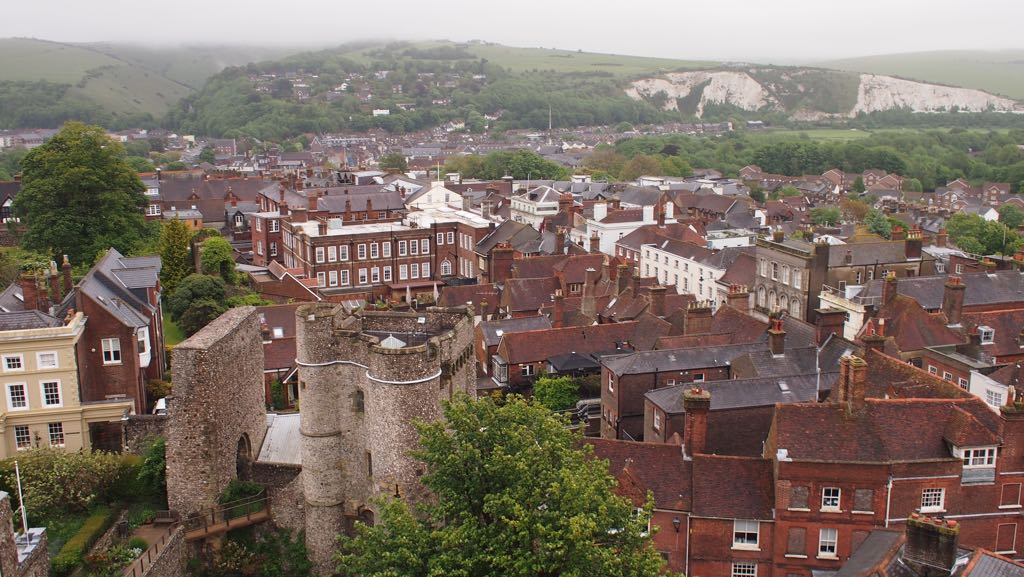 A dramatic view of Lewes Town
