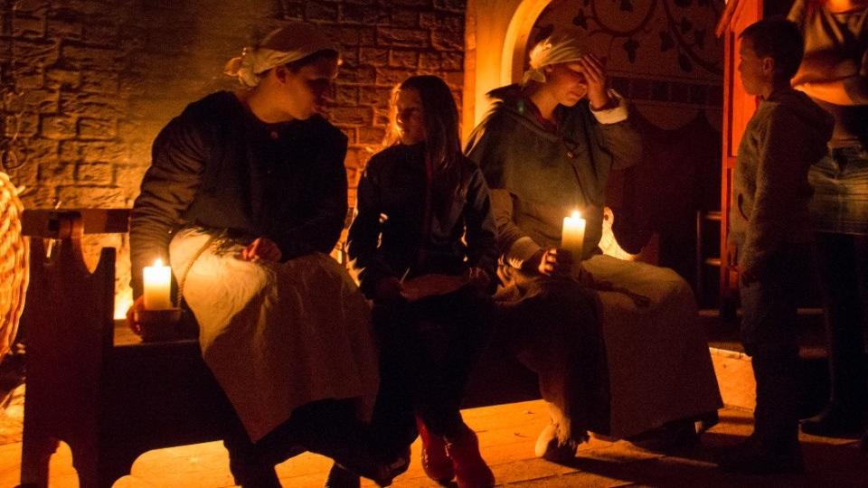 After Dark in a Medieval Castle