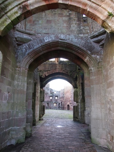 Through the gatehouse to the Cobbled Court