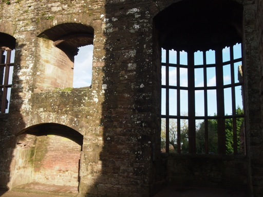 Oriel window within hall
