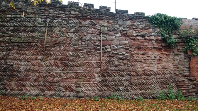 Tamworth Castle Herringbone Wall
