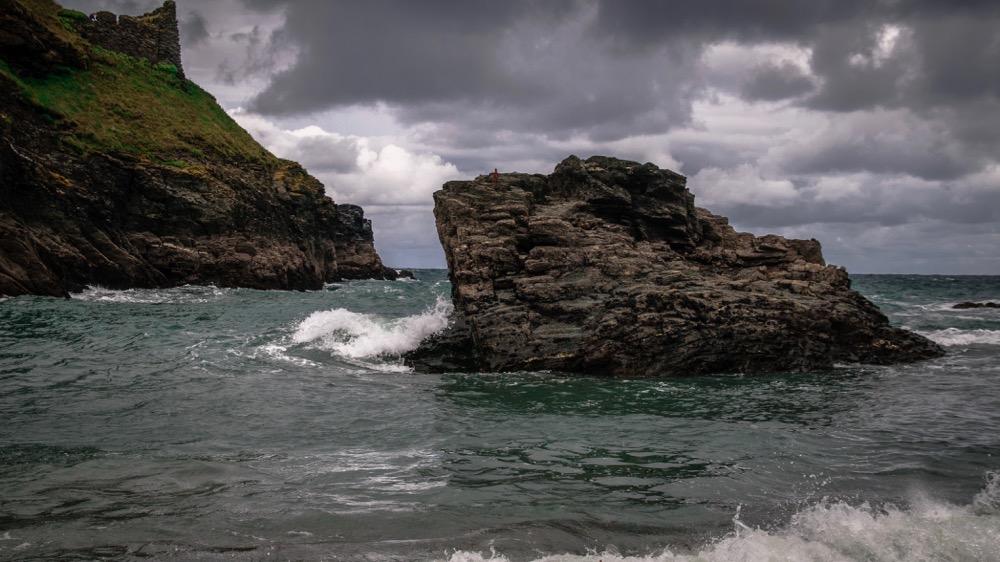 Rough sea surrounding Tintagel