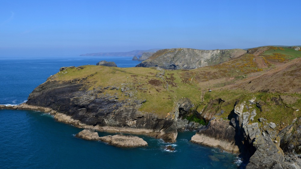 Coastline surrounding Tintagel Castle