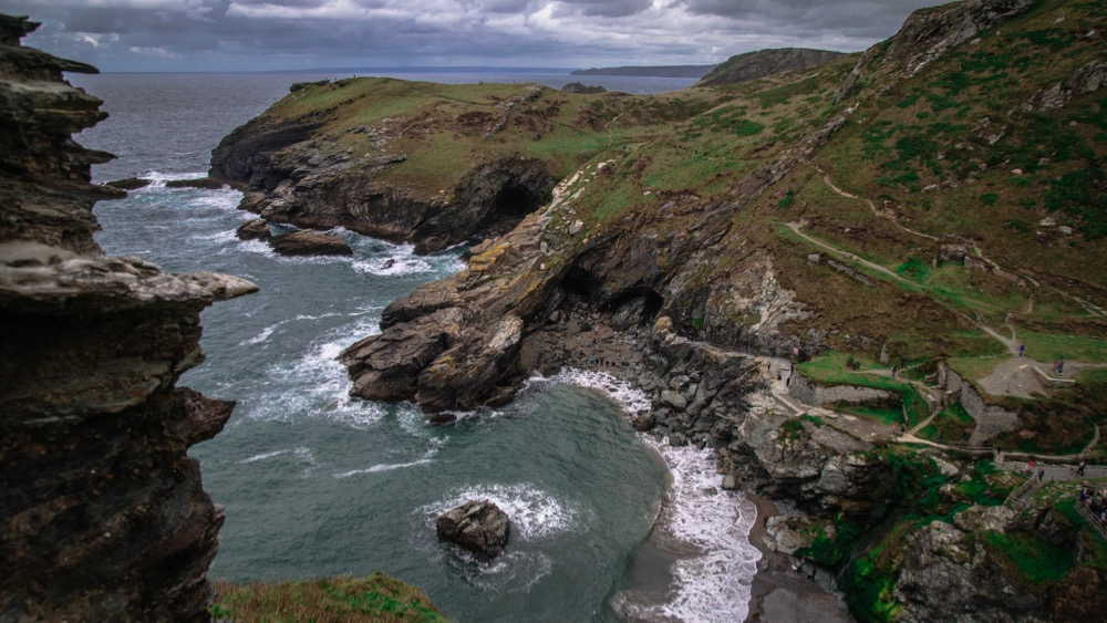 Weather beaten coves by Tintagel Castle