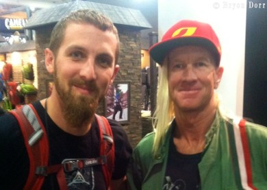 It's always cool to meet the superstars of the adventure sports world. Glen Plake is the man!