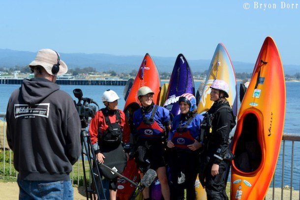 The ladie surf kayakers getting interviewed by C&K Mag. We need more ladies out there!