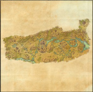 The maps of the Elder Scrolls Online - Deshaan
