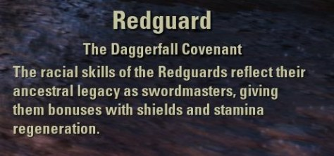 Exploring the Elder Scrolls Online - Redguard Description