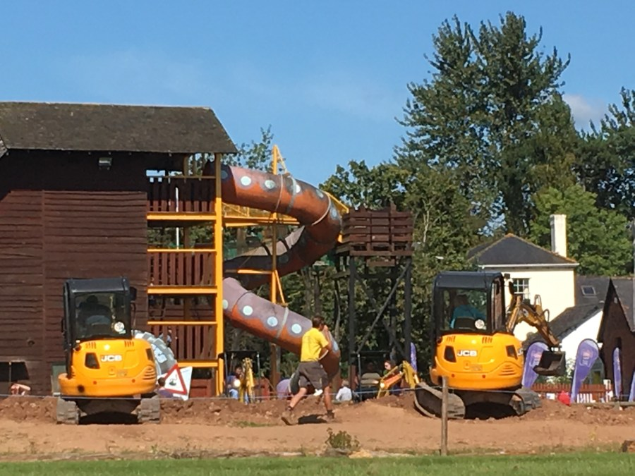 A day out at Diggerland Devon by exploring exeter