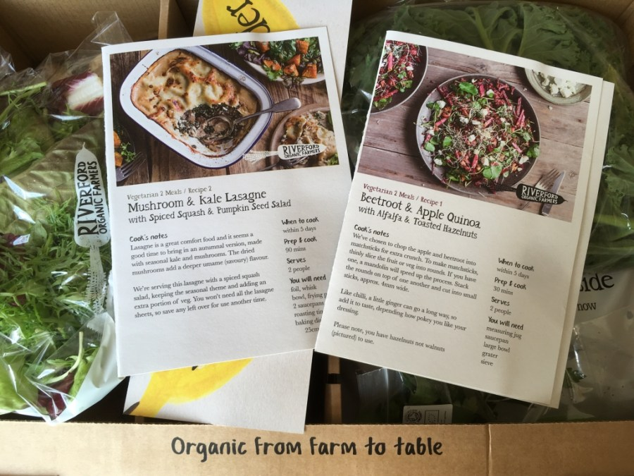 Our Riverford recipe box experience, exploring exeter