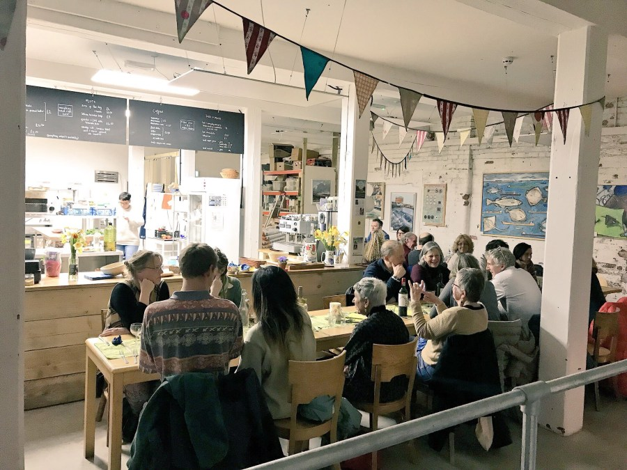 Pop up dinner at The Boatyard Bakery and Scripts for Supper with MasterChef semi-finalist Annie McKenzie, Exploring Exeter 2018