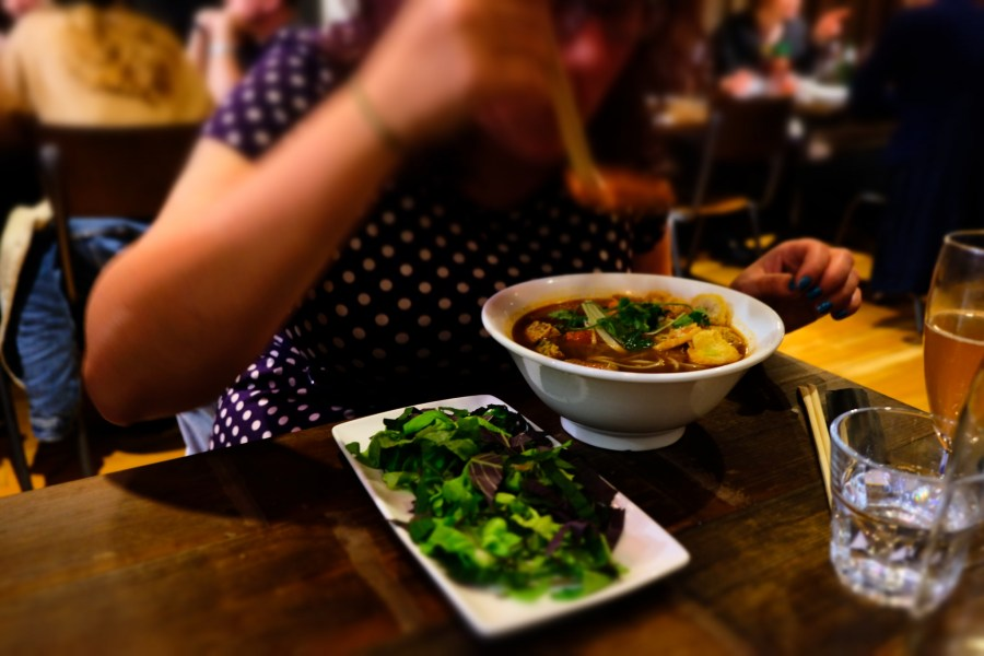 Dining out at Pho Exeter for the win!, pic by Exploring Exeter 2018