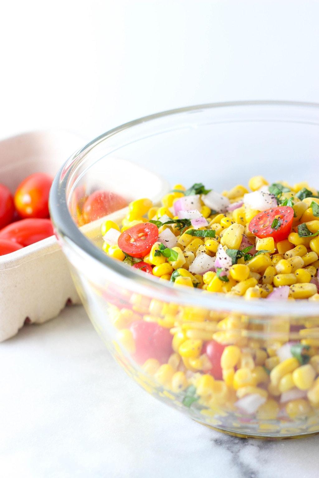 5-Ingredient Corn Salad - Exploring Healthy Foods