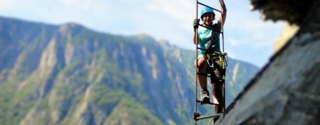 Girl Climbing Via Ferrata