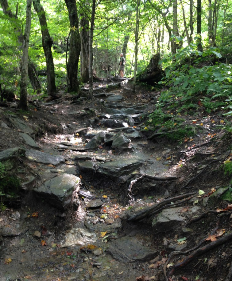 The trail is a waterfall