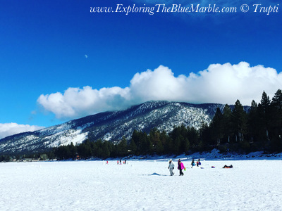 Frozen Lake Tahoe Beach