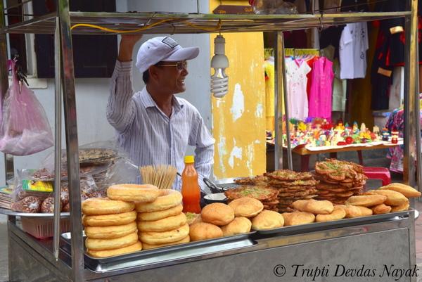 Donut Vendor Hoi An Vietnam