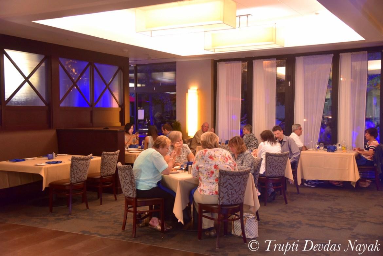 Inside Savor restaurant